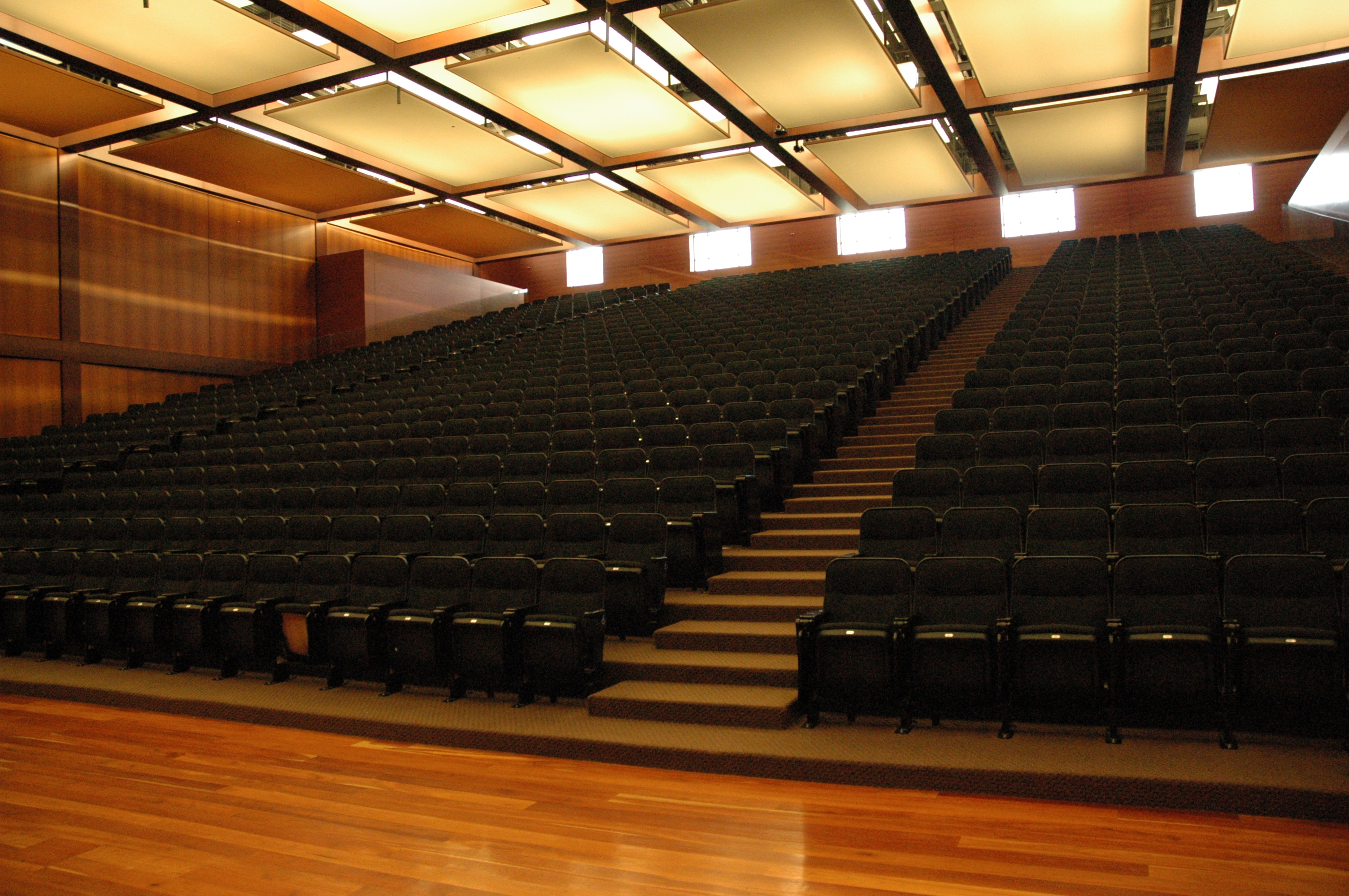 View of Bo Campbell from the front of the auditorium