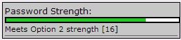 screenshot of the Option 2 (green) for Password Strength.